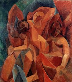 Pablo Picasso, 1908, Trois femmes (Three Women), oil on canvas, 200 x 185 cm, Hermitage Museum, Saint Petersburg - Picasso's African Period - Wikipedia, the free encyclopedia