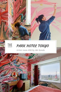 Park Hotel Tokyo artist room #16 by Aki Kondo. The hotel has transformed some of its rooms with the help of local Japanese artists. Click to read article! Learn more at vossy.com #parkhotel #tokyo