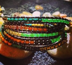 MultiColored Long Wrap Bracelet by WrapBraceletsByJess on Etsy, $18.00
