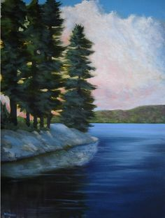 """""""A Northern Morning"""" pained by Warren Peterson Fine Art"""" 24"""" x 18"""" acrylic on canvas. Currently available."""