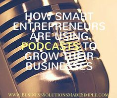 More and more of my clients are starting podcasts these days, and I love seeing that they're doing this for their businesses. There are good reasons the podcast industry is exploding these days, including these 4 ways podcasts can grow your business. http://www.businesssolutionsmadesimple.com/smart-entrepreneurs-using-podcasts-grow-businesses/ Tracey Osborne #VirtualAssistant #OnlineBusinessManager