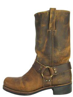 The Frye Dark Brown Harness Boot (Men
