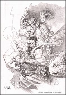 The Diabolist: Cover art: Pencil Version: character & creature design: copyright Andy Brase: https://www.facebook.com/AndyBraseArt