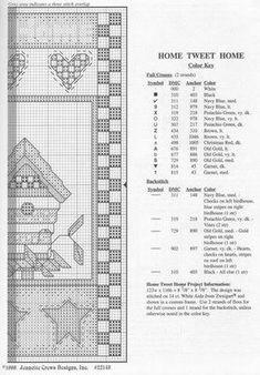 Schema punto croce Casa Uccellino 07