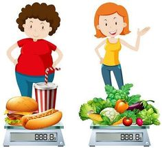 Junk Food And Healthy Food Compare, Cartoon, Ae, Vector Files PNG Clipart Image . Healthy And Unhealthy Food, Healthy Eating Recipes, Nutritious Meals, Healthy Foods To Eat, Healthy Life, Healthy Living, Easy Recipes, Pcos Diet Chart, Junk Food