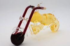 Glasgeschenke, besondere Geschenke, Glaskunst , kleiner Glas-Globus, Harley aus Glas, handmade, gefüllt mit Wein- Skulpturen - leithoff-shops Webseite! Shops, Shopping, Glass Globe, Small Glass Jars, Original Gifts, Special Gifts, Website, Flasks, Sculptures