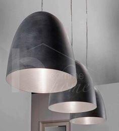 Luminaire suspension design noir CLAUDIO, 3 lampes, Luminaires design - Suspensions - HcommeHome