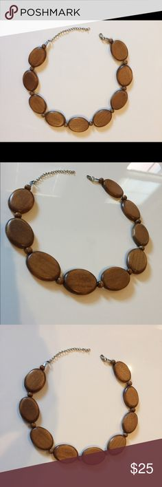 """Wood vintage style necklace unique 21"""" long, including chain Jewelry Necklaces"""