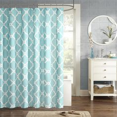 Laverick Microfiber Shower Curtain | Wayfair