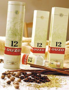 OUZO12 Wine And Spirits, Greek Recipes, Greek Islands, Mykonos, Fun Drinks, Package Design, Wines, Greece, Bottles
