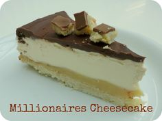Millionaire's Cheesecake... Yum but I would have to convert... & learn what double cream is...