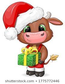 Christmas Drawing, Christmas Paintings, Christmas Art, Christmas Tables, Modern Christmas, Scandinavian Christmas, Cartoon Cow, Cartoon Girl Drawing, Bambi Disney