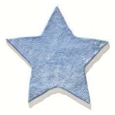 Alfombra infantil de algodón con mechones tupidos y forma de estrella Zilius LES PETITS PRIX - Muebles y Decoración