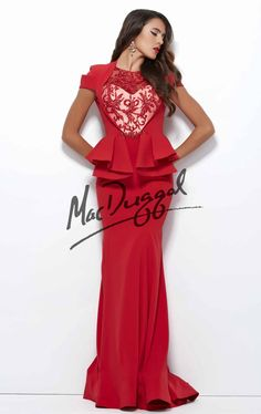 Mac Duggal 48219R by Mac Duggal Black White Red