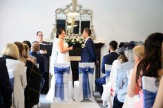 Bride and groom getting married at Swynford Manor in Cambridgeshire