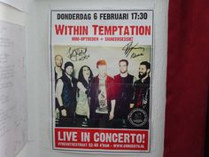 Within Temptation Poster signed by Sharon and Robert