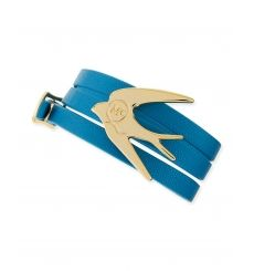 Golden Swallow Leather Wrap Bracelet, Turquoise by McQ Alexander McQueen at Neiman Marcus. Alexander Mcqueen Bracelet, Mcq Alexander Mcqueen, Fendi, Gucci, Golden Jewelry, Scarf Hat, Neiman Marcus, Burberry, Bangles