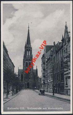 Katowice Holtzerstrasse mit Marienkirche  2478