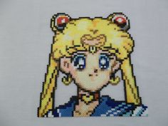 Sailor Moon Perler Portrait by ThatCraftyGeek
