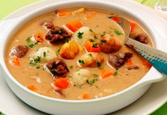 Nyírség potato dumpling soup - My Shop Soup Recipes, Cooking Recipes, Dumplings For Soup, Veggie Soup, Hungarian Recipes, Breakfast Time, No Cook Meals, Food Hacks, Food Dishes