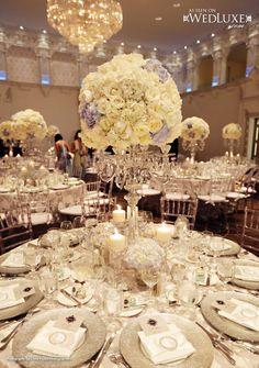 Wow!! Una boda espectacular. de Wedluxe. #DecoraciónBodas Índigo Bodas y Eventos.