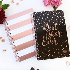 Who else is loving these rose gold covers?! Let's make it the best year ever with our new 2017-2018 academic planners! Now on sale for preorder plus $1 off! ✨
