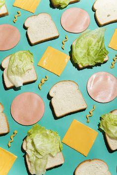 sandwich. Patterns / Geometrics in Photo Styling.
