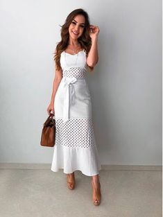 Moda Vestidos Cortos Elegantes Ideas For 2019 Long Lace Skirt, Lace Dress, White Dress, Dress Long, White Lace, Winter Fashion Outfits, Modest Fashion, Fashion Dresses, Trendy Dresses