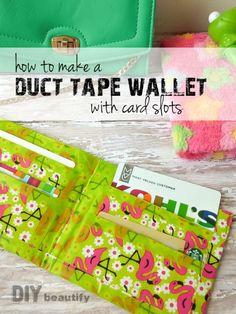 Duct Tape Wallet detailed tutorial   DIY beautify