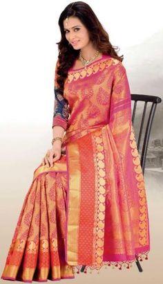Fancy Banarsi Saree for Girls