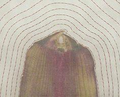 """""""Aura V"""", 2003, corn leaves, grass, silk organza, thread. Kyoung Ae Cho"""