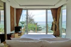 Bedroom view of the Beachfront Luxury Condo in Phuket, Thailand