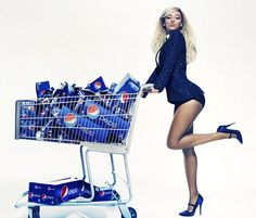 "Pepsi signed a mega deal with Beyonce. Beyonce will star in the new upcoming ""Live for Now"" global TV commercial, currently planned for re. Coca Cola, Pepsi Ad, Destiny's Child, Michelle Obama, Gq, Celebrity Branding, Hip Hop, Halftime Show, New York"
