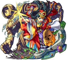 Strengths Very High Stats for Speed Type, Bump Combo procs her Wood Slayer, Chain Meteor SS that can pass through walls Weaknesses Only one Null Ability, Laser Barriers Game Character Design, Character Concept, Puzzles And Dragons, Monster Strike, Cross Patterns, Amazing Art, Awesome, Illustration Art, Fantasy