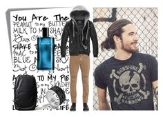 """WaitingFor"" by fahira-1 ❤ liked on Polyvore featuring Post-It, Belstaff, Davidoff, John Hardy, Topman, men's fashion and menswear"