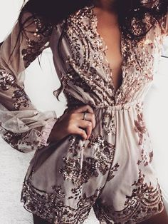 Chicnico Fashion Embroidery Lace Romper