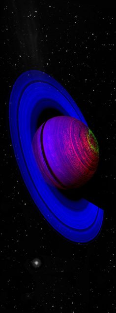 My favorite planet, Saturn, I'm kinda freakin out about how awesome that indigo color on the rings is & all the colors of the planet. One pinner said->> The Dancing Aurorae of Saturn
