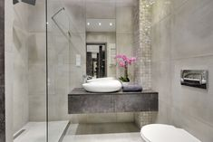 Szara bezuchwytowa szafka pod umywalkę nablatową Toilet, Bathtub, Bathroom, Standing Bath, Washroom, Bath Tub, Litter Box, Bathtubs, Bathrooms