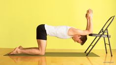 Try Yoga Backbends with Props: Block + Chair Backbends for Kapotasana