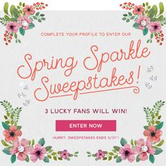Do you WANT some new jewels?    Enter our Spring Sparkle Sweepstakes for a chance to win some new jewelry!