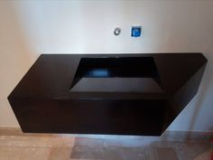 Private House In Ioannina Corian Dupont, Floating Nightstand, Construction, Bathroom, House, Furniture, Home Decor, Building, Washroom