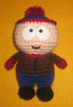 Adorable crochet Amigurumi South Park Stan Marsh on Etsy, $22.00