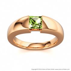 Colors of Eden, Purity Engagement Ring #peridot