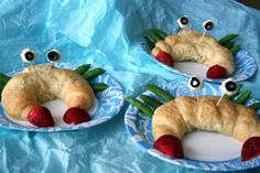 under the sea mermaid party by denna's ideas - make with mini croissants and chicken salad inside!
