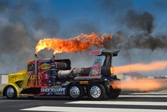 SHOCKWAVE, a jet-powered semi truck that goes 375 mph, will be at this summer's Duluth Air Show Aug. 23-24, 2014. PHOTO: Duluth Air Show & SHOCKWAVE