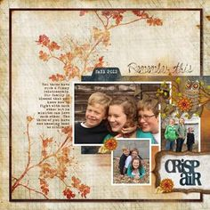 pretty! ___Crisp Air - Autumn Breeze Digital Scrapbooking Layout_______ $8.95___Designed by: Jill Klasen Detailed Instructions, October 17, 2012: http://projectcenter.creativememories.com/digital/digital-scrapbooking-project-ideas/page/2/