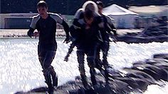 Sam Fell into the Water with Lynn on his Back :P