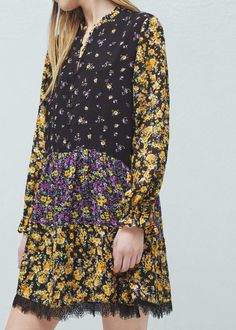 Floral print dress - Dresses for Woman | MANGO United Kingdom