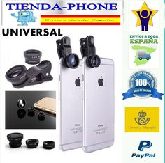 General Universal de Ojo de Pez 235 ° Clip negro para el iPhone, Samsung, LG
