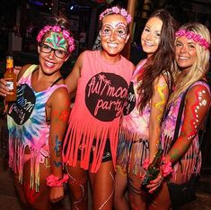 The Full Moon Party in Koh Phangan, Thailand is one of the most famous things to do not only in Thailand, but in the whole of Asia! Have a read to find out how to prepare for the madness & party the right way. Full Moon Party Thailand, Coachella, Thailand Outfit, New Year's Eve 2019, Thailand Adventure, Blacklight Party, Neon Party, Birthday Party Themes, The Incredibles